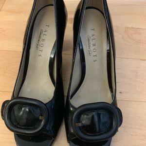 Talbots High heel patent leather peep toe shoes